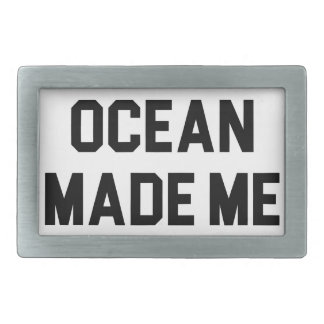 Ocean Made Me Salty Rectangular Belt Buckle
