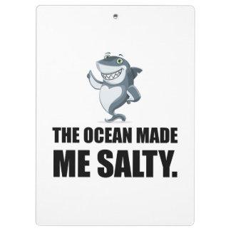 Ocean Made Me Salty Shark Clipboard