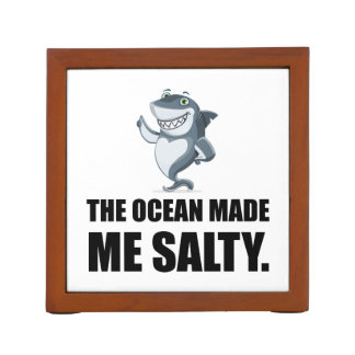 Ocean Made Me Salty Shark Desk Organizer