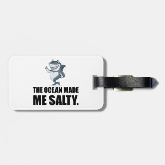 Ocean Made Me Salty Shark Luggage Tag