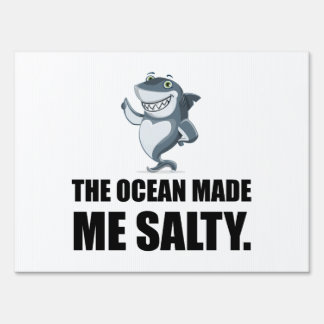 Ocean Made Me Salty Shark Sign