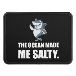 Ocean Made Me Salty Shark Trailer Hitch Cover