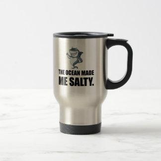 Ocean Made Me Salty Shark Travel Mug