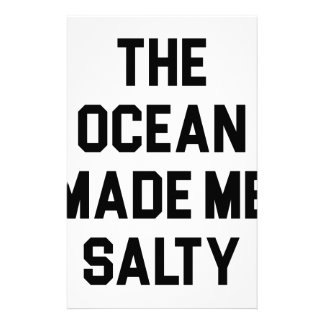 Ocean Made Me Salty Stationery