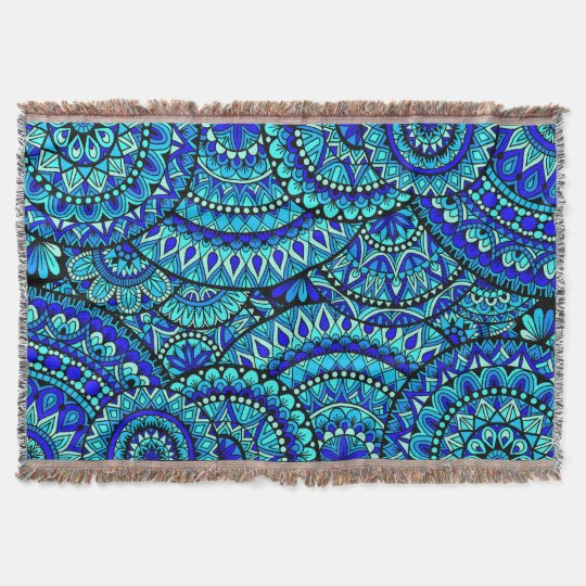 Ocean Mandalas Throw Blanket
