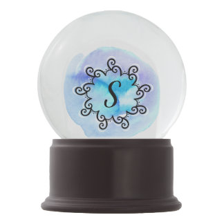 Ocean Medallion Snow Globe