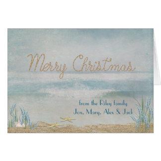 ocean Merry Christmas with starfish Card