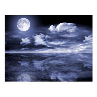 Ocean Moon Reflection Postcard