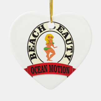 ocean motion lean mean woman ceramic ornament