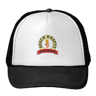 ocean motion lean mean woman trucker hat