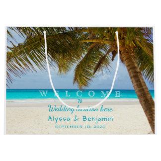 Ocean n Palm Trees Destination Wedding Welcome Bag