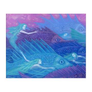 Ocean Nomads, Nautical Fantasy Art Mermaids & Fish