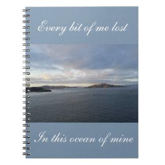Ocean of Mine Spiral Note Books