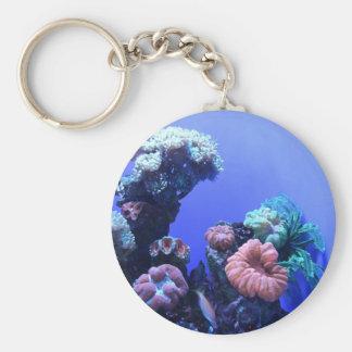 ocean_one basic round button keychain