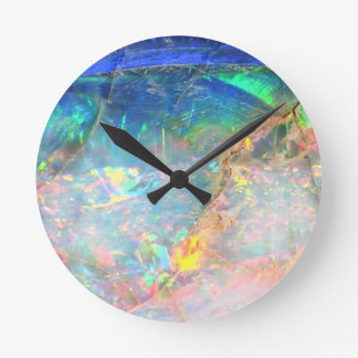 Ocean Opal Round Clock