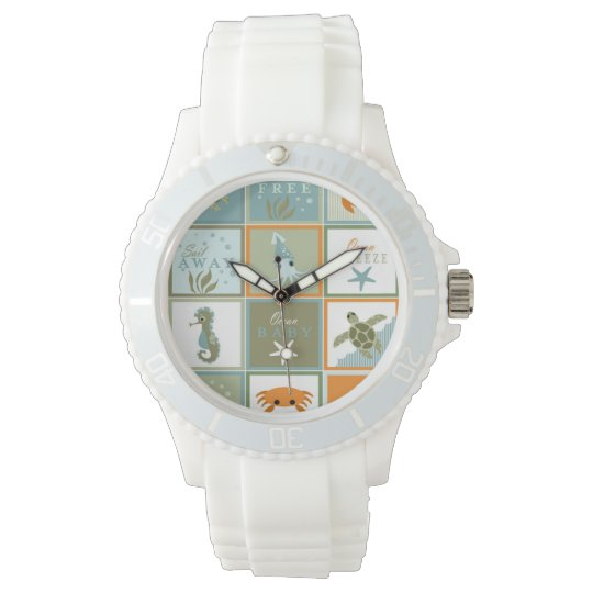 Ocean Patchwork Wristwatch