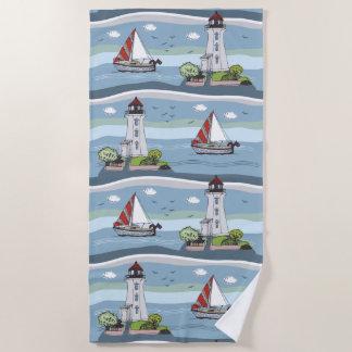 Ocean Pattern beach towel