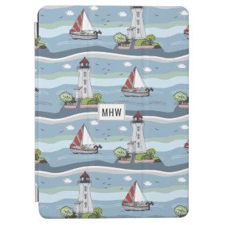 Ocean Pattern custom monogram device covers