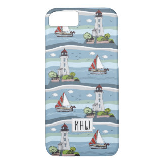 Ocean Pattern custom monogram phone cases