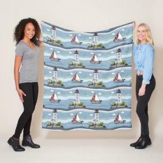 Ocean Pattern fleece blankets