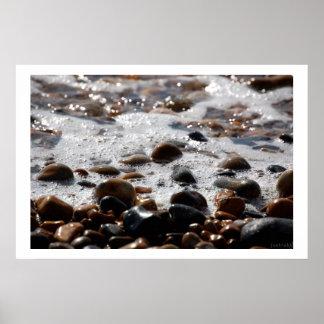 ocean pebbles print