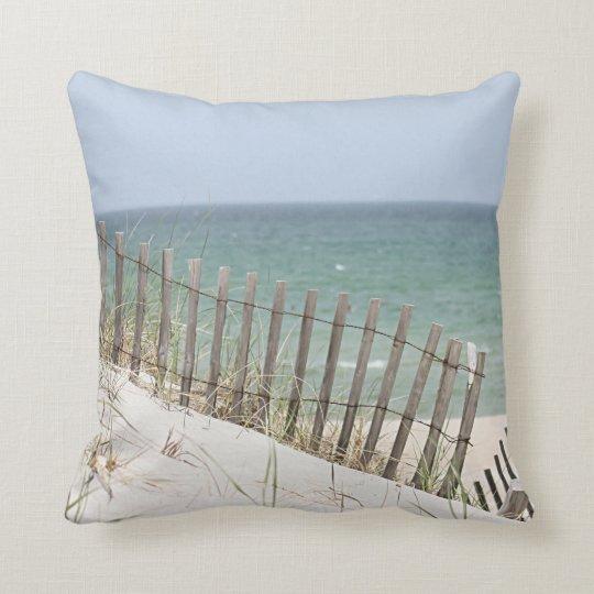 Ocean photo throw pillow