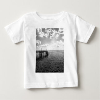 Ocean Pier in Black and White Baby T-Shirt