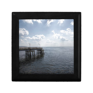 Ocean Pier Over Atlantic Ocean Keepsake Box