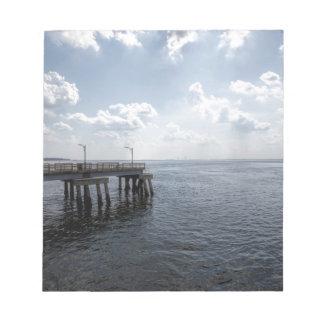 Ocean Pier Over Atlantic Ocean Notepad