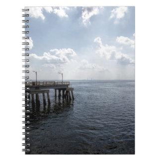 Ocean Pier Over Atlantic Ocean Spiral Notebooks