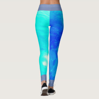 Ocean print leggings