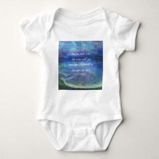 OCEAN QUOTE inspirational courage Baby Bodysuit