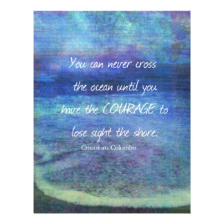 OCEAN QUOTE inspirational courage Letterhead