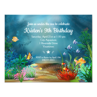 Ocean ReefUnder the Sea Birthday Party Card