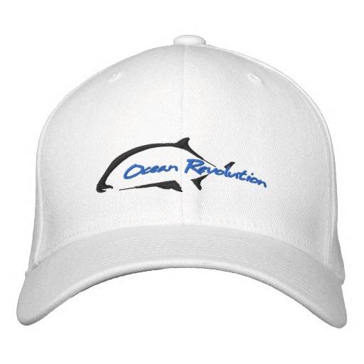 Ocean Revolution White Hat Baseball Cap