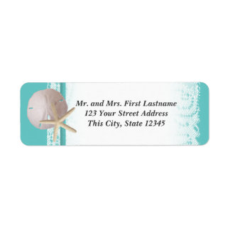 Ocean Romance Beach Theme Return Address Label