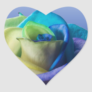 Ocean Rose Seal Heart Sticker