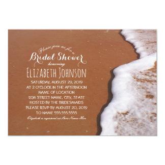 Ocean Sand And Waves Beach Themed Bridal Shower Card