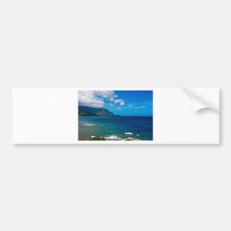 ocean scene car bumper sticker