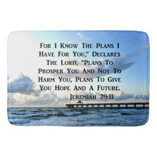 OCEAN SCENE JEREMIAH 29:10 PHOTO DESIGN BATH MAT