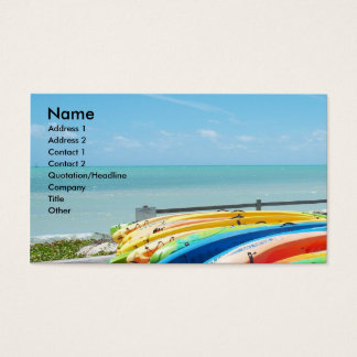 Ocean Sea Beach Key West Florida Business Card Art