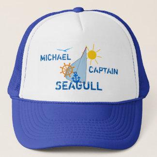Ocean Sea Boating Sail dark customizable Trucker Hat