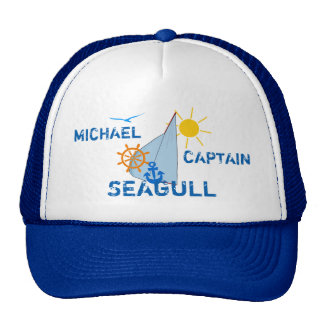 Ocean Sea Boating Sail dark customizable Trucker Hat