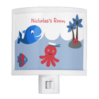 Ocean Sea Fish Whale Personalized Night Light