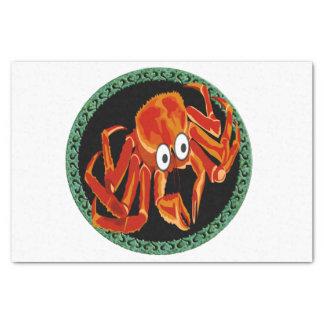 Ocean sea tropical orange king crab tissue paper