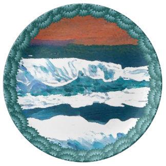 Ocean Seascape Paintings Collectors' Plates Beach Porcelain Plates