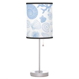 Ocean Seashell Light Blue Nautical Seashore Beach Table Lamp