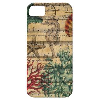 ocean seashells seahorse scripts beach fashion iPhone 5 cover