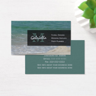 Ocean Shoreline : Monogram Business Cards