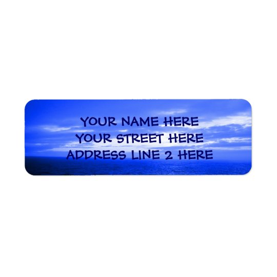 Ocean Sky Address Labels